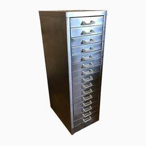 Vintage Industrial Metal Filing Cabinet with 15 Drawers