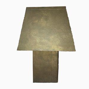 Lámpara de mesa Carton de bronce macizo de Pucci De Rossi, años 80