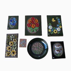 Schwedische Vintage Wandfliesen von Jie Gantofta Keramik, 7er Set