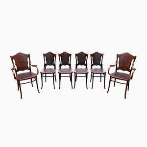 Antike Stühle & Sessel aus Bugholz von Jacob & Josef Kohn
