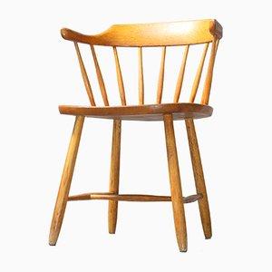 Vintage Småland Oak Chair by Yngve Ekström for Stolab