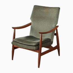 Mid-Century Dutch High Back Armchair