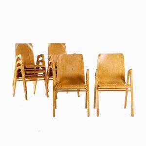 Sedie impilabili di Axel Larsson per Getama, set di 8