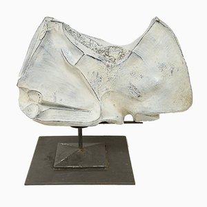 Keramik Nashorn Skulptur von Marcello Fantoni, 1973