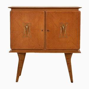 Mueble bar italiano Mid-Century de olmo, años 50