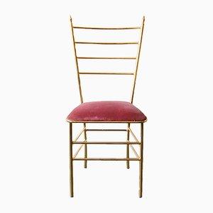 Brass and Velvet Chair, 1960s