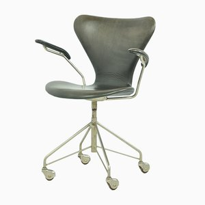 3217 Swivel Armchair by Arne Jacobsen for Fritz Hansen, 1950s