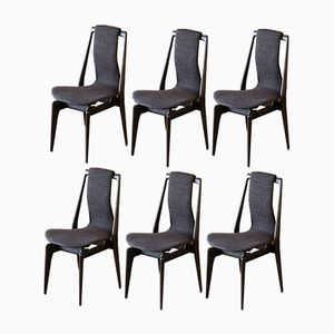 Mahogany Dining Chairs, 1950s, Set of 6