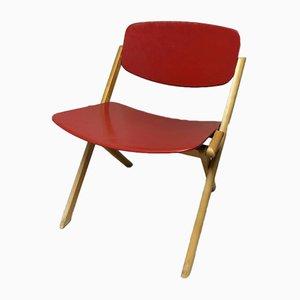 Chaise Basse Pliante par Jean-Claude Duboys, 1980s