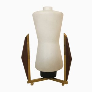 Mid-Century Opaline Glass Table Lamp from Stilnovo