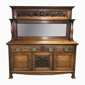Vintage Art Nouveau Oak Buffet