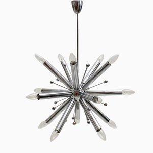 Chromed Sputnik Hanging Lamp, 1960s