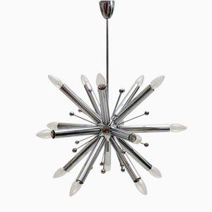 Lampada a sospensione Sputnik cromata, anni '60
