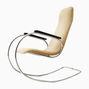 S826 Steel Tube Rocking Chair by Ulrich Böhme for TON, 1970s