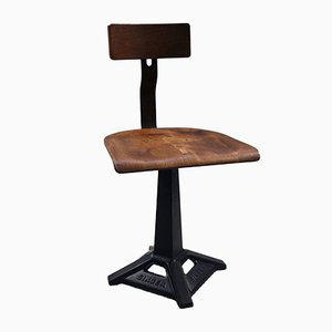 Vintage Factory Stool from Singer, 1920s