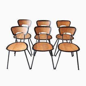 Black is Beautiful Esszimmerstühle von Jaques Hitier & Markus Staab für Atelier Staab, 6er Set