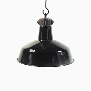 Vintage Industrial Enamelled Lamp