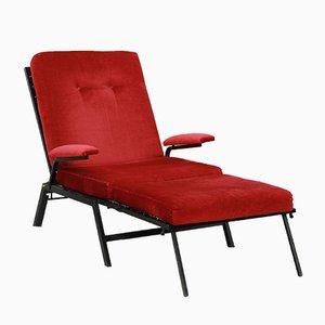 Chaise longue escandinava, años 50