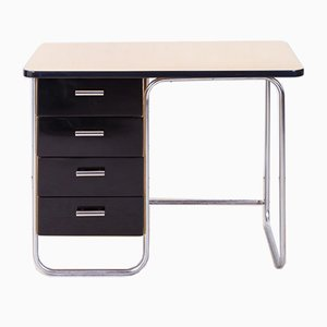 Vintage Functionalist Chrome-Plated Writing Desk