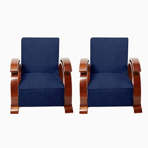 Customizable Art Deco Lounge Chairs, 1920s, Set of 2