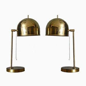 B-075 Brass Table Lamps from Bergboms, 1960s, Set of 2