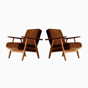 GE 240 Easy Chairs by Hans J. Wegner for Getama, 1950s, Set of 2