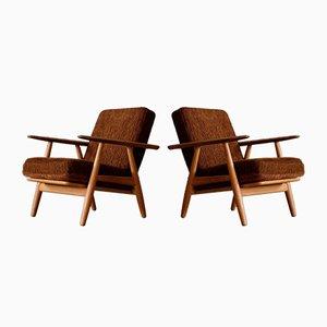 GE 240 Sessel von Hans J. Wegner für Getama, 1950er, 2er Set