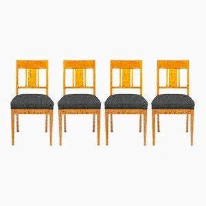 Chaises Personnalisables Antique en Bouleau, Set de 4