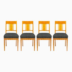 Sedie antiche in betulla personalizzabili, set di 4