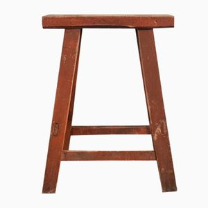 Taburete rústico vintage de madera