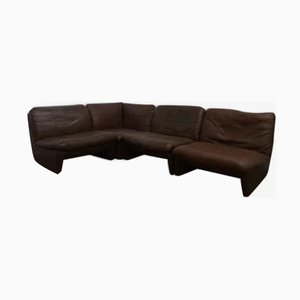 Modular Skai Leather Sofas from Airborne, 1970s, Set of 4