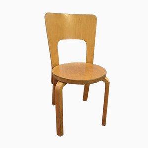 Modell 65 Beistellstuhl von Alvar Aalto für Artek, 1950er