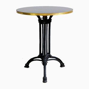 Art Deco Bistro Tisch aus Gusseisen mit Granitplatte, 1920er