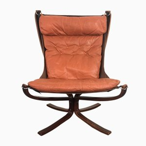 Vintage High Backed Falcon Chair by Sigurd Ressell