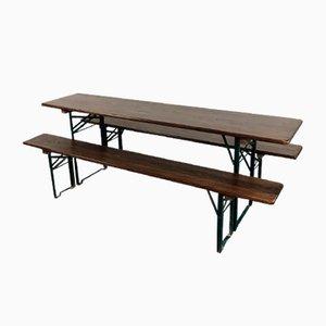 Deutscher Vintage Tisch und Bänke