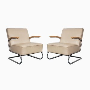 Vintage Model S411 Cantilever Armchairs by W. H. Gispen for Thonet, Set of 2