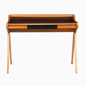 Walnut Desk by Helmut Magg for WK Möbel, 1950s