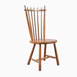 Esszimmerstühle aus Birke mit Speichen-Rücklehne, 1950er