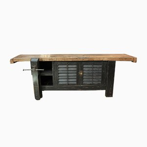Vintage Fir Carpenter's Bench, 1930s