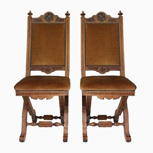 Victorian Ecclesiastical Chairs, Set of 2