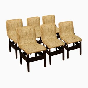 Vintage Italian Chairs by Vittorio Introini, 1980s, Set of 6