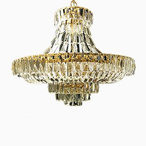 Vintage Murano Crystal Chandelier, 1970s