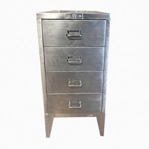 Vintage Stripped Metal Filing Cabinet