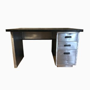 Vintage Stripped Metal Office Desk