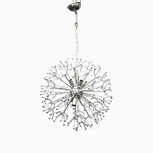 Chrome Plated Dandelion Chandelier, 1970s