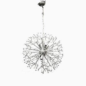 Lámpara de araña Dandelion cromada, años 60