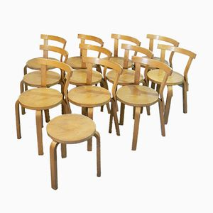 chairs and chair and stool by Alvar Aalto by Artek 1970)