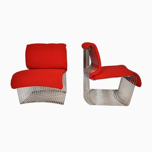 Pantonova Chairs by Verner Panton for Fritz Hansen, 1971, Set of 2