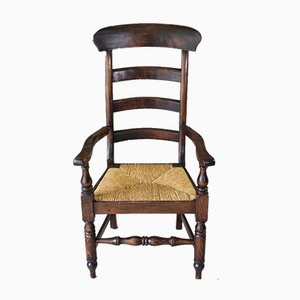 Antique Rush Ladderback Chair