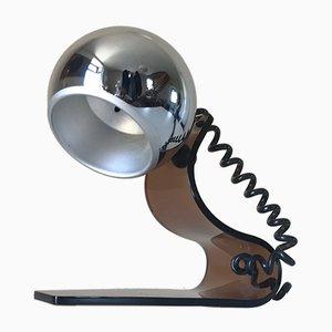 Lámpara de plexiglás y metal cromado, años 70